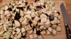 aubergines en dés
