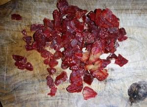 fraises séchées