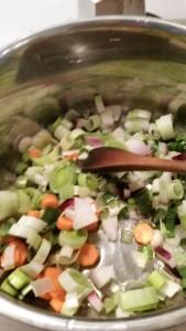 faire suer les légumes