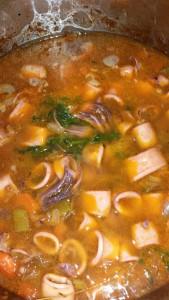 rouille de calamars avant réduction de sauce