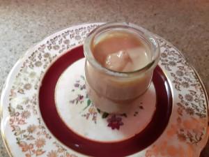 pot de crème Mont-Blanc au praliné faite maison