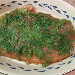 Le gravlax de saumon